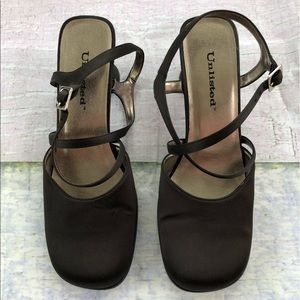 Unlisted 90s Style Square Toe Block Heels 8.5